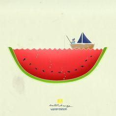 Minimal illustrations by Betul Donmez, via Behance
