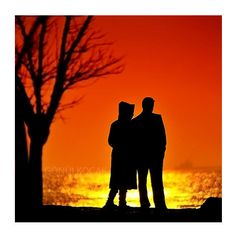infinity love Sunset Landscape Love silhouette