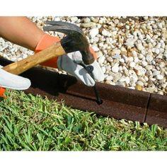 Vigoro EcoBorder 4 ft. Brown Rubber Landscape Edging (6-Pack)-ECOBRD BRN 6PK - The Home Depot Driveway Landscaping, Tropical Landscaping, Landscaping With Rocks, Modern Landscaping, Landscaping Ideas, Backyard Ideas, Garden Ideas, Outdoor Landscaping, Outdoor Ideas