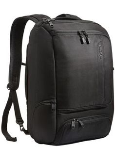 I WANT THIS BAG eBags TLS Professional Slim Laptop Backpack Solid Black - via eBags.com!