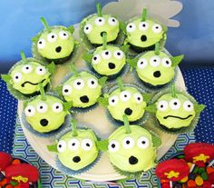 Toy Story alien cupcakes, Pizza Planet pizza, etc! :)