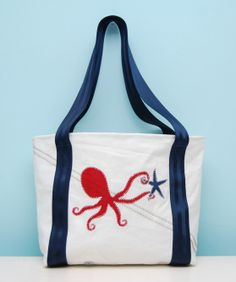 Octopus Tote Bag - Second Wind Sails