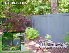 V300-6 6' Tongue and Groove PVC Privacy Fence in Slate Gray (E105) Find neutral colored and gray vinyl fences with Grand Illusions Color Spectrum.