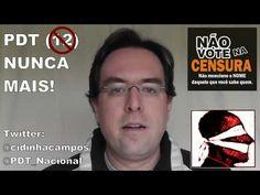 #ForaPDT Quero LIBERDADE!    Ou o PDT toma uma atitude em relação ao autoritarismo de Cidinha Campos ou perde votos. Se você também for contra a censura na internet, NÃO vote mais em ninguém do PDT...