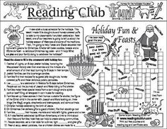 Enjoy two Christmas and Holiday-themed Two-Page Activity Sets and a Christmas-themed puzzle with this discounted bundle! Includes the following products:  ?Holiday Food, Films, and Music Two-Page Activity Set ?Santa's Workshop and Christmas Customs Two-Page Activity Set ?Toys and Elves Holiday Puzzling Bookmarks
