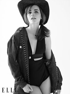 """Emma Watson Shows Off Her Country Western Side On The April Cover Of """"Elle"""" Magazine"""
