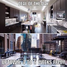 """Deal of the Day: UPTOWN: 4 TO 6 WEEKS FREE on 13 month leases. Apartment is paying 125% of 1 months rent as commission (you must be escorted on this tour so hit us up and let us know you want to check it out) which they pay out of their advertising budget in order to get new tenants. We then split our commission with you as a thank you for using our service. Text """"DEAL"""" to 214-308-1807 for more info on this property.  Don't forget to put down """"Help Urself Leasing"""" when filling out ur lease…"""