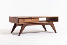 Items similar to Mid Century Inspired Walnut Coffee Table on Etsy Mid Century Coffee Table