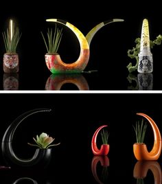 Beautiful Cool Planters Integrated With LED Lamp