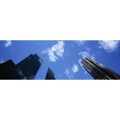 Low angle view of skyscrapers Columbus Circle Manhattan New York City New York State USA Canvas Art - Panoramic Images (36 x 12)