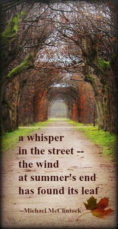 Tanka poem: a whisper -- by MIchael McClintock.