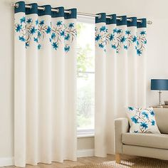 Plain Faux Silk Look Eyelet Ring top Teal Blue Cream Brown Fully Lined Curtains Lily Flowers Floral Leaves Inches Drop Eyelet Ring Teal Curtains, Cute Curtains, Elegant Curtains, Modern Curtains, How To Make Curtains, Curtains Living, Lined Curtains, Curtains With Rings, Contemporary Curtains