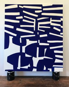 Abstract wall art and poster design. Abstract Geometric Art, Contemporary Abstract Art, Modern Art, Blue Art, Grafik Design, Simple Art, Art Plastique, White Art, Painting Inspiration