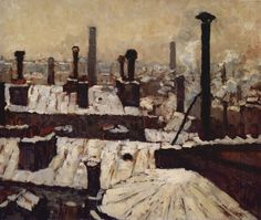 Roof under the Snow, Paris - Gustave Caillebotte – 1878