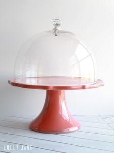 DIY cake stand dome knob handle by @LollyJaneBlog #kitchenaccessory #cakedome