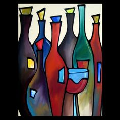 Open Bar  Original Large Abstract Contemporary by fidostudio, $600.00