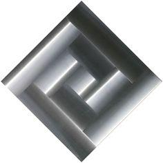 Getulio Alviani, Superficie a testura vibratile n°71048, 1966, Aluminum