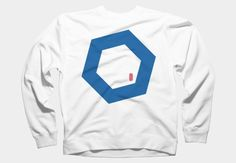 Back To Basics Hexagon (Blue) Zip Hoodie By Julianajuice Design By Humans