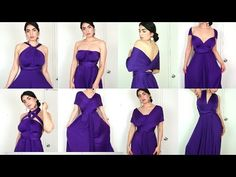 72eceaf1c8 +8 WAYS to Wear a CONVERTIBLE INFINITY DRESS (Purple Color)