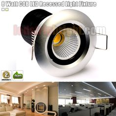 8 Watt COB LED Recessed Light Fixture - Bridgelux COB