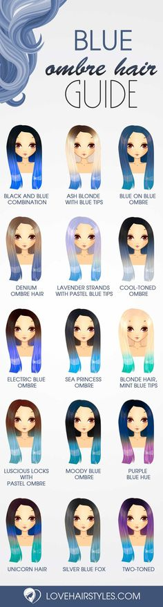 "Stunning Styles for Blue Ombre Hair That Will Make You Flip! See more: ""… - http://makeupaccesory.com/stunning-styles-for-blue-ombre-hair-that-will-make-you-flip-see-more-2/"