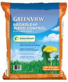 GreenView Broadleaf Weed Control plus Lawn Food with GreenSmart - Greenview