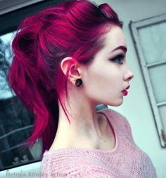 Red wine coloured hair.  this is just gorgeous!!