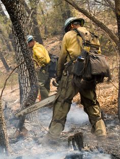 A great shot of a STIHL chain saw in service on the Wallow, AZ fire.