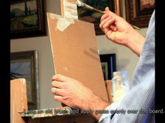 Priming you panel correctly gives you a good start to your oil painting. This priming procedure will work just as well for canvas too. http://www.malcolmdeweyfineart.com/my-studio.html