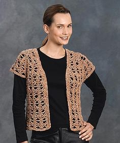 Crochet Jacket Patterns for Women | Free Crochet Pattern 30243 Crocheted Vest : Lion Brand Yarn Company