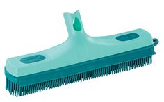 A rubber bristled broom is great for getting pet hair off your floor.