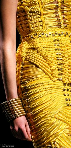 Balmain F/W 2014 - Lve the textures in all Balmain pieces!