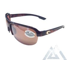 313afb75c1 Costa Del Mar Coba Sunglasses – Brown Tortoise Frame – Polarized 580P  Silver Mirror Lens