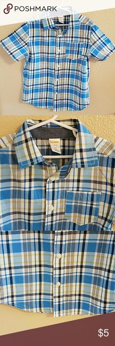 Gymboree Boys Plaid Short Sleeve Shirt sz 5/6 Adorable Gymboree Plaid Short Sleeve Shirt size Small 5/6. Perfect for Spring! Excellent condition worn once Gymboree Shirts & Tops