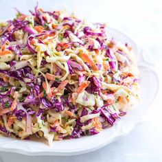 Seriously Good Homemade Coleslaw Recipe // My favorite homemade coleslaw recipe with the most delicious creamy dressing. This coleslaw is quick and easy to make. It is even easy to make in advance.