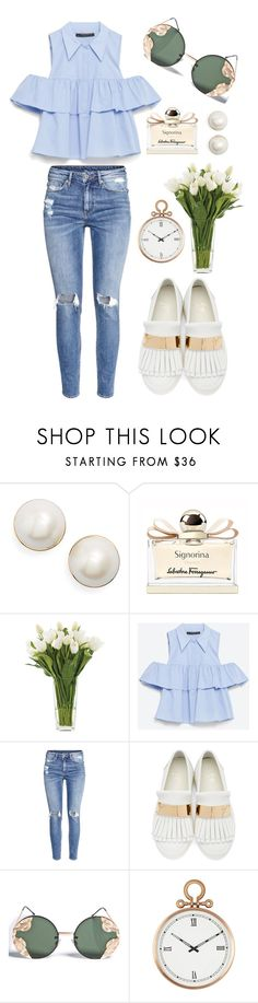 """What a Frill: Ruffles"" by bechs on Polyvore featuring Kate Spade, Salvatore Ferragamo, NDI, Zara, H&M, Giuseppe Zanotti, Spitfire and Universal Lighting and Decor"