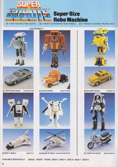 "Gobots (Bandaï) 1984-1987 ""Gamme française"""