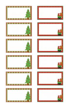 Christmas Place Cards, Christmas Names, Christmas Gift Tags, Winter Christmas, Xmas, Printable Labels, Printable Cards, Christmas Letterhead, Name Place Cards