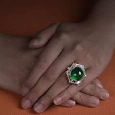 A 26 carats Colombian Emerald and Diamond Ring by FORMS