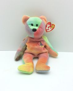 Vintage Peace Beanie Baby with Tags cdccc553551