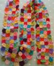 do you mind if i knit: Little Squares Scarf, step-by-step pattern for making the squares.
