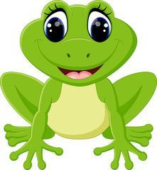 """Buy the royalty-free Stock vector """"Cute frog cartoon"""" online ✓ All rights included ✓ High resolution vector file for print, web & Social Media Frog Pictures, Cute Pictures, Frosch Illustration, Inkscape Tutorials, Frog Drawing, 2 Baby, Frog Crafts, Frog Art, Cute Frogs"""