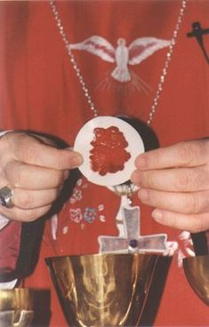 Eucharistic miracle happened during Mass Catholic Saints, Roman Catholic, Catholic Beliefs, Catholic Churches, Christianity, Religious Pictures, Religious Art, Jesus E Maria, Les Religions