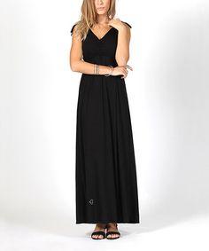 Look what I found on #zulily! Black Maternity & Nursing Maxi Dress #zulilyfinds