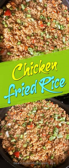Easy & Delicious Chicken Fried Rice Recipe you must try at home Chicken Fried Rice Chinese, Chicken Fried Rice Recipe Easy, Chicken Fried Cauliflower Rice, Chicken Rice Recipes, Easy Rice Recipes, Fried Chicken, Thai Chicken, Carbs In Chicken, Costco Chicken