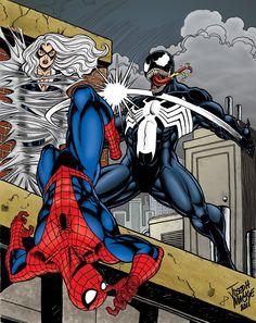 Spider-Man vs. Venom by Joseph Mackie