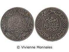 Morocco, Yusuf, 1/2 Rial (5 Dirhams), AH 1336