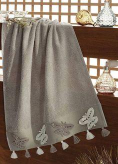 Towel edge models Illustrated, # dantelhavlukenarı examples - Diy And Craft Crochet Borders, Crochet Motif, Crochet Designs, Crochet Lace, Crochet Towel, Crochet Decoration, Silk Ribbon Embroidery, Bathroom Towels, Love Sewing