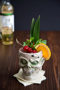 Zombie Cocktail: a delicious yet super potent mixed drink. It's often said that if you consume multiple servings, you're guaranteed to turn into a zombie...
