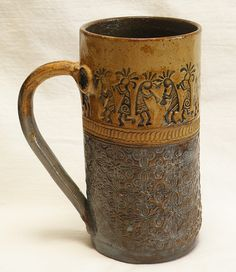 Stoneware southwest kokopelli ceramic 20oz coffee by desertNOVA, $22.00